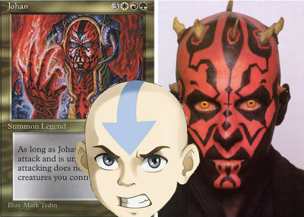 How could you go wrong with a Sith Airbender? Wait he's Bant colours? And he sucks!?