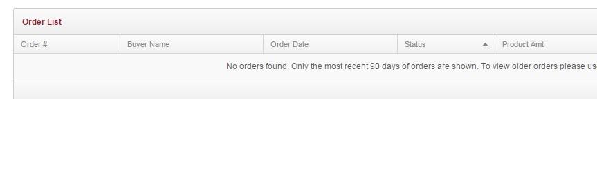 No orders